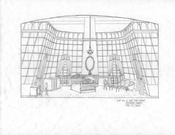 Scenic Design II - Cat on a Hot Tin Roof