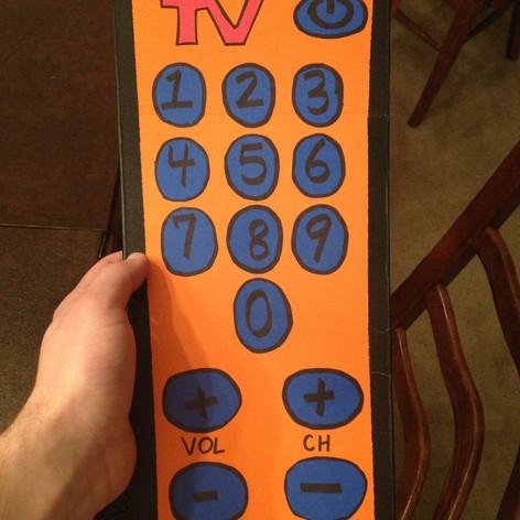 TV Remote Prop