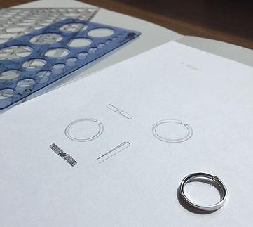 anel ouro branco diamante sob encomenda reguas design de joias desenho tecnico