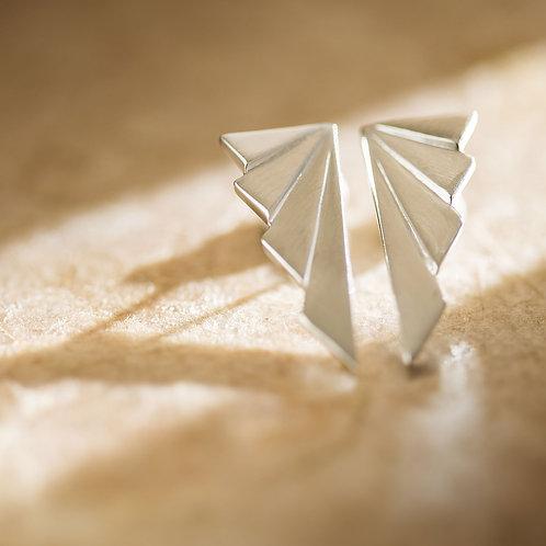 brinco geometrico prata