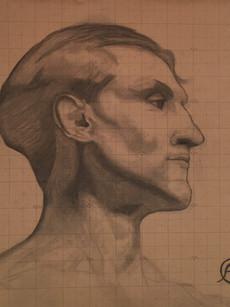 6' x 6' Head Drawing