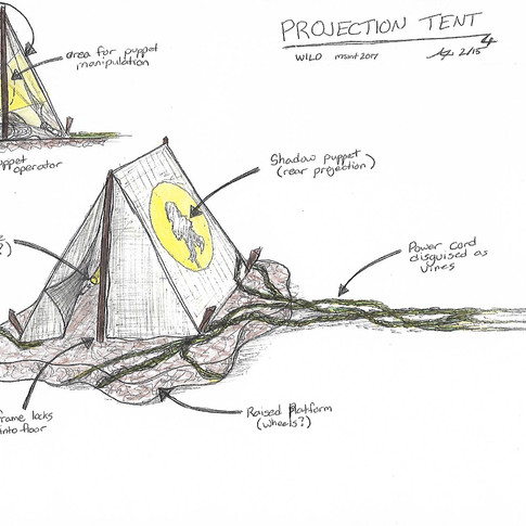 Early Concept Tent Sketch