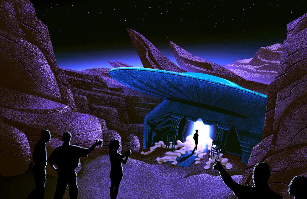 Spaceship Reveal - Nightime