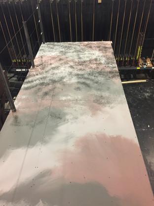 Painting, bridge scumble layer 1 and 2