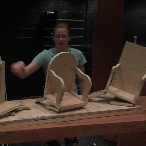 Construction, collapsible puppet chairs