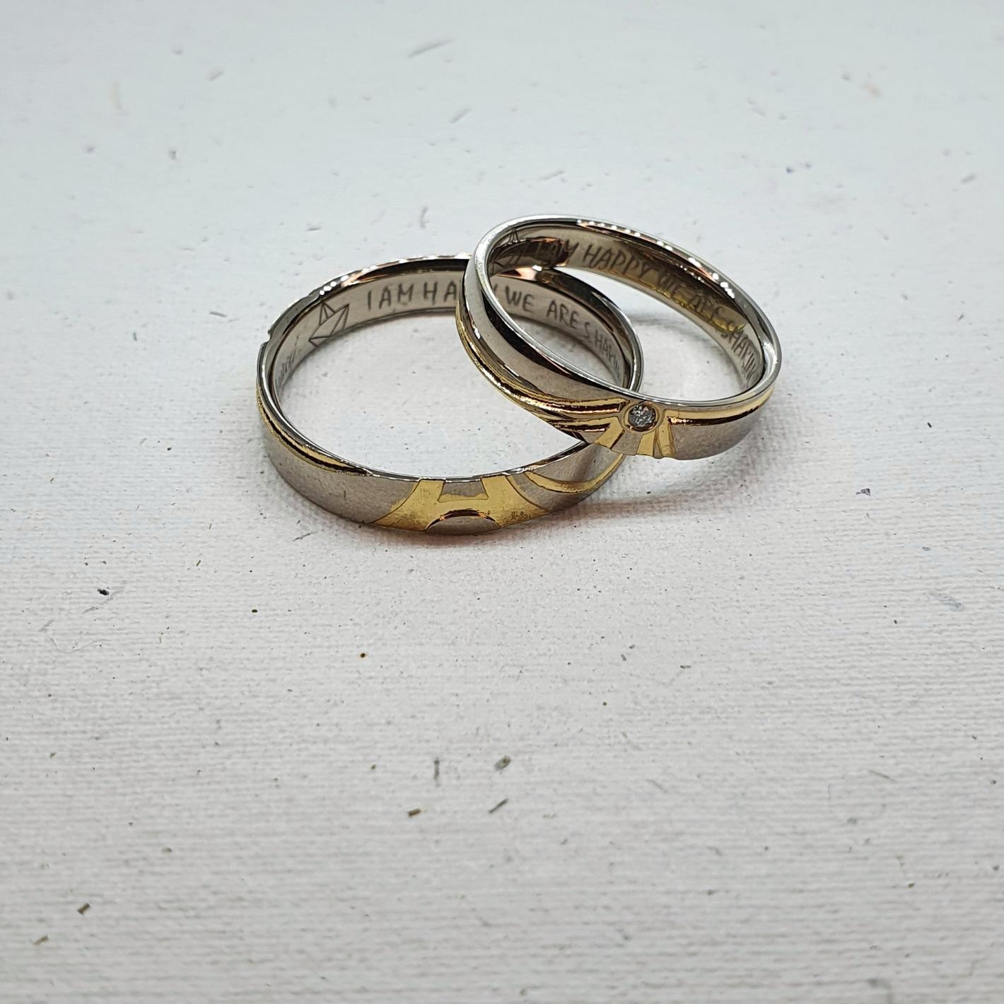aliancas casamento ouro branco detalhe o