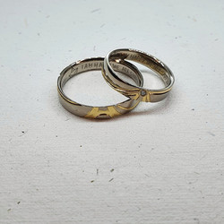 Alianças de casamento customizadas produzidas sob encomenda