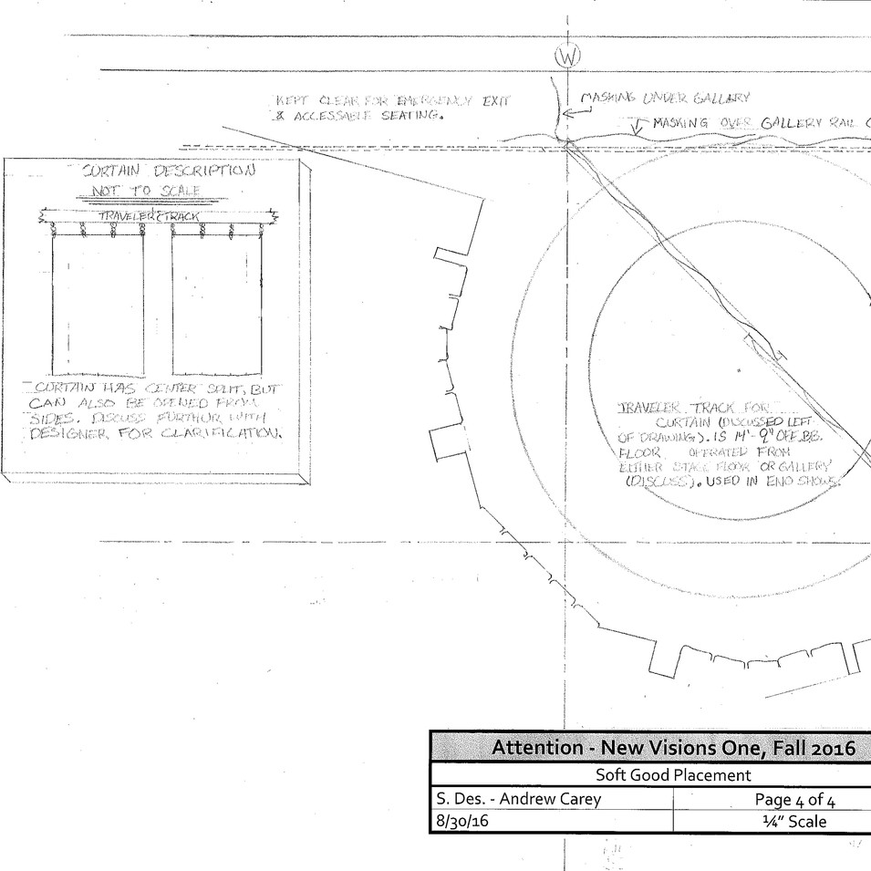 Drafting - curtain detail