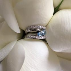 Anel bodas de prata exclusivo produzido sob encomenda
