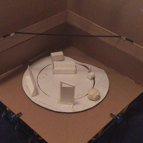 "1/4"" Model, working through K'nex construction"