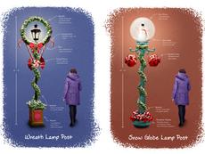 Holiday Lampost