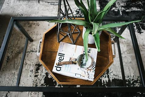 Magazine on Tray