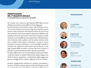 Invito alla presentazione del 5° Bilancio Sociale a 50 anni dalla nascita AIOP