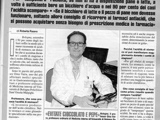 Acidità di stomaco: il Prof. Vaira spiega come curare un disturbo che si accentua durante i cambi di