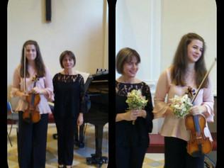 Federica Giani (violino) e Anna Quaranta (pianoforte) in Concerto