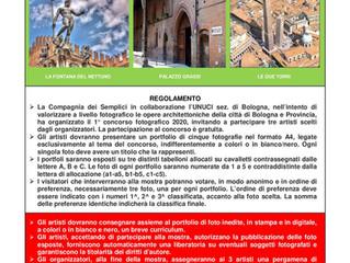 """1° Concorso fotografico 2020: """"Bologna e provincia da scoprire"""""""