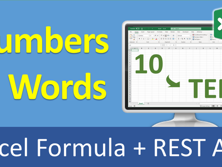 Number to words in Excel and REST API