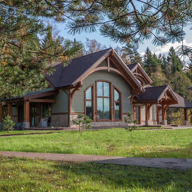 Дом в стиле Timber Frame