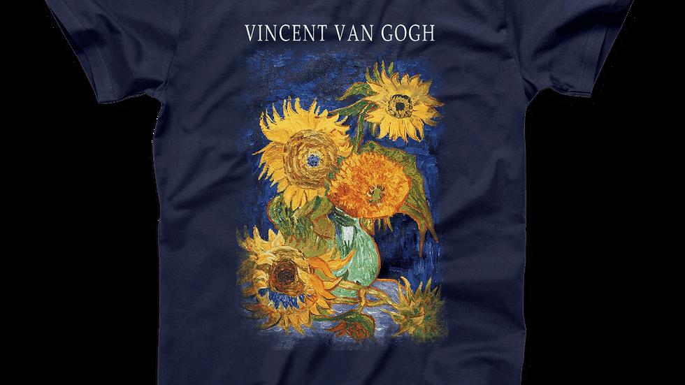 Van Gogh Five Sunflowers 1888, Artwork T-Shirt