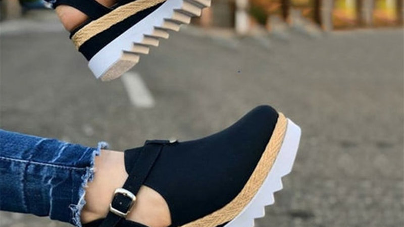 Women's Sandals Vintage Wedge Shoes