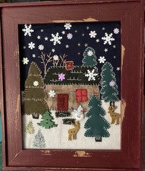 Snowy Cabin in the Woods Winter Sew-Along