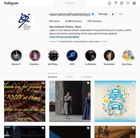 New National Theatre, Tokyo: Social Media Content Management