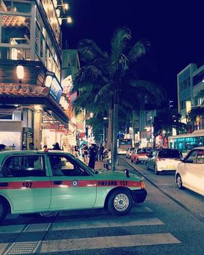 Retro taxis in Naha, Okinawa