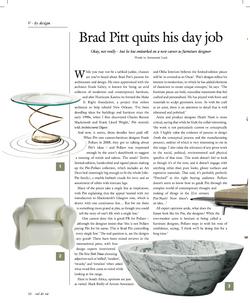 Val de Vie Digimag: Brad Pitt Design