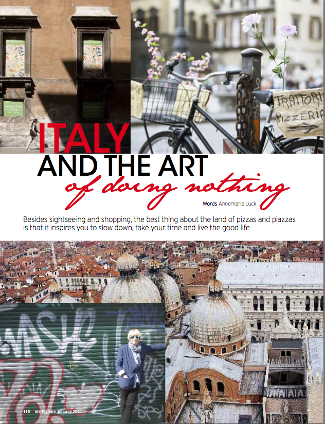Marie Claire: Italy Travel Story