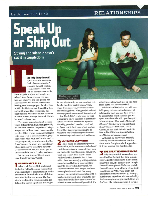 Men's Health: Relationships