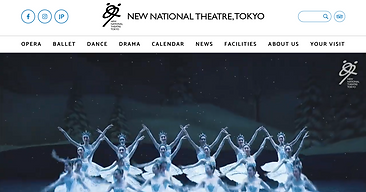 New National Theatre, Tokyo: English Website Redesign and Edit