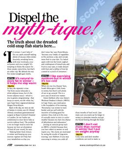 Cosmopolitan: Winter Weight Myths