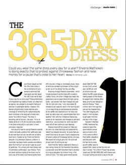 Marie Claire: The Uniform Project