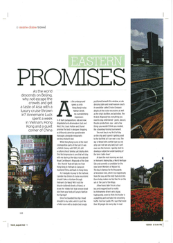 Marie Claire: Hong Kong Travel Story