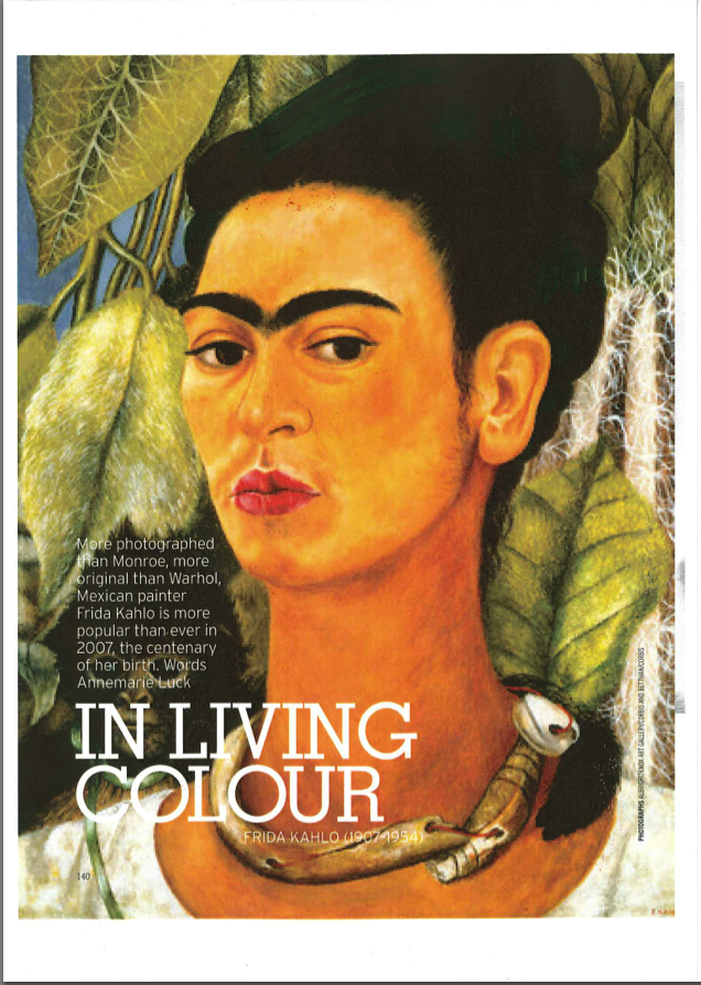 Marie Claire: Frida Kahlo Life Story