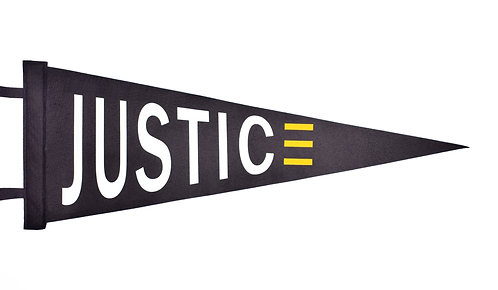 """""""JUSTICE"""" Pennant"""