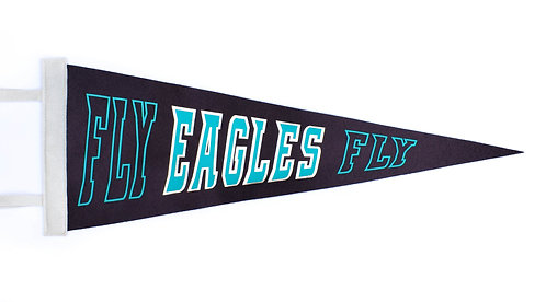 """""""Fly Eagles Fly"""" Midnight/Silver Pennant"""