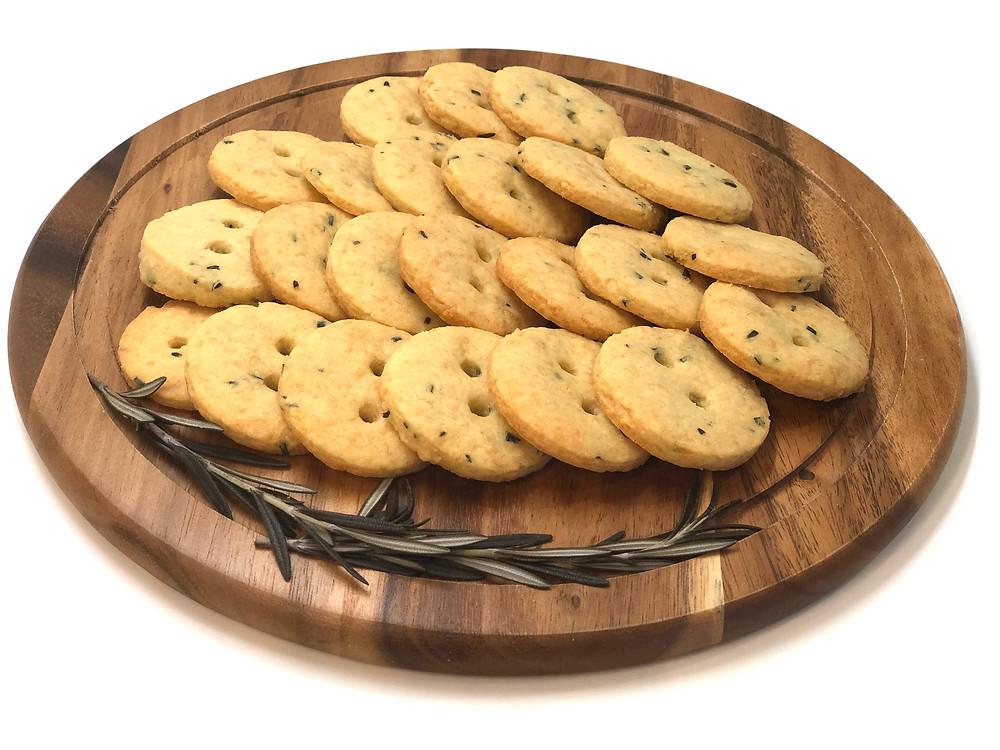 Savory rosemary cookies