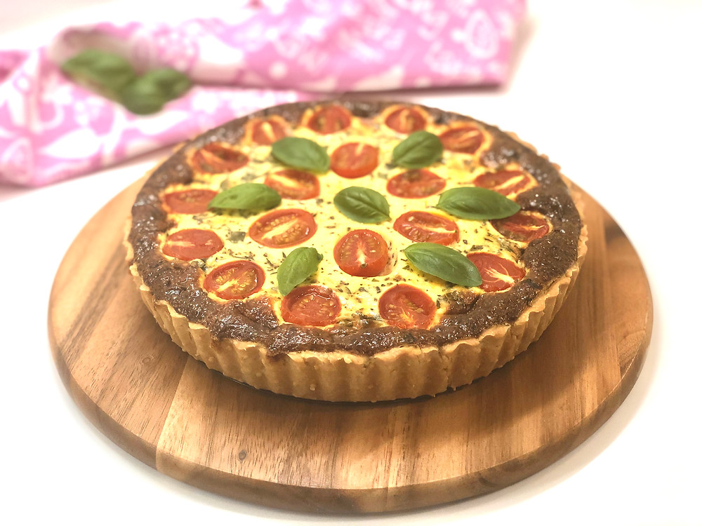 Cheese & Tomato Quiche