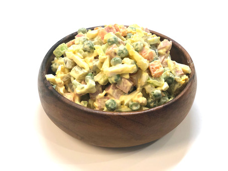 Russian salad (been invented by a French chef in 1970s).