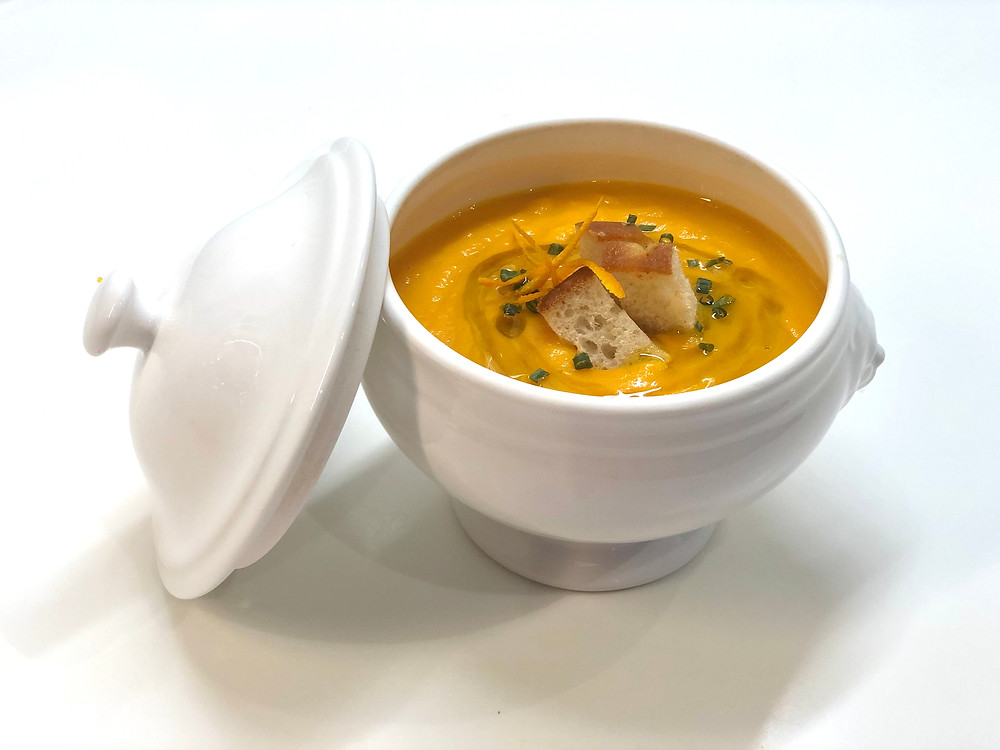 Carrot & orange cream soup