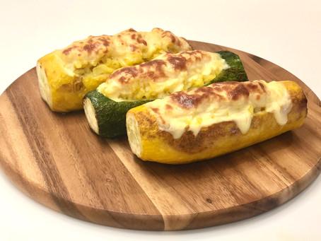 Zucchini stuffed with risotto