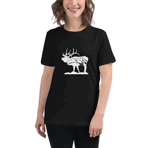 Women's Standing Elk Relaxed T-Shirt