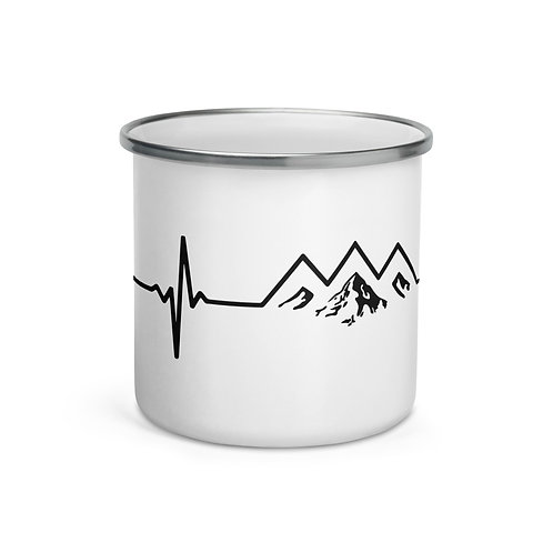 Mountain Pulse Enamel Mug