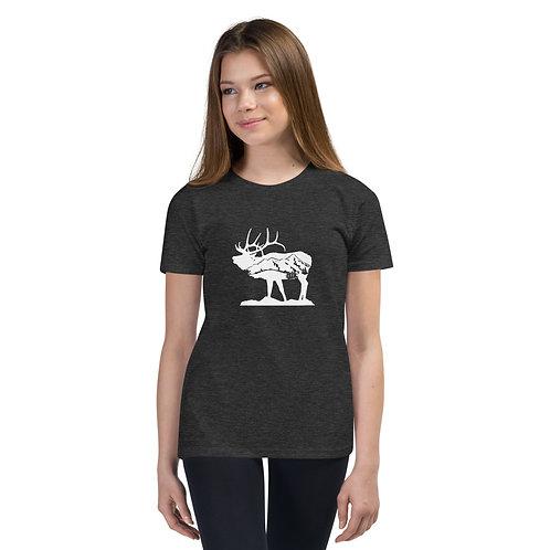 Youth Standing Elk Short Sleeve T-Shirt