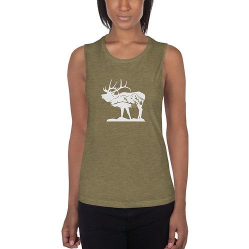 Ladies' Standing Elk Muscle Tank