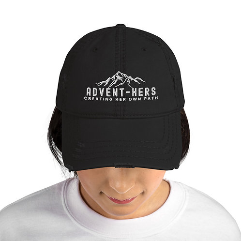 Distressed  Hat with Mountains