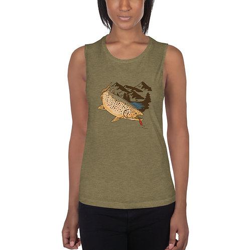 Ladies'  Fish Muscle Tank