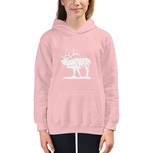 Kids Standing Elk Hoodie