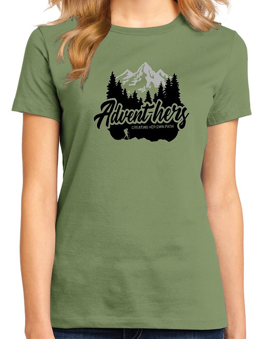 Military Green Advent-hers  T-Shirt